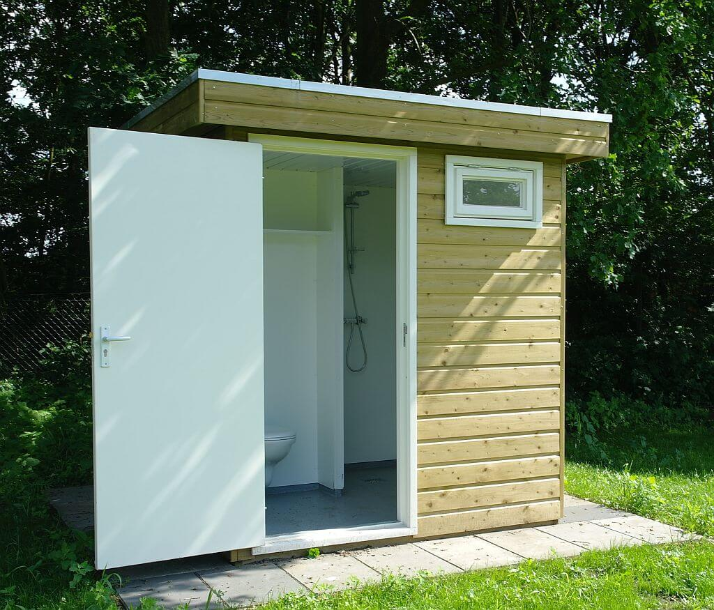Stellplatz mit eigenem Bad auf Ferienpark Het Stoetenslagh - Stellplatz mit eigenem Bad