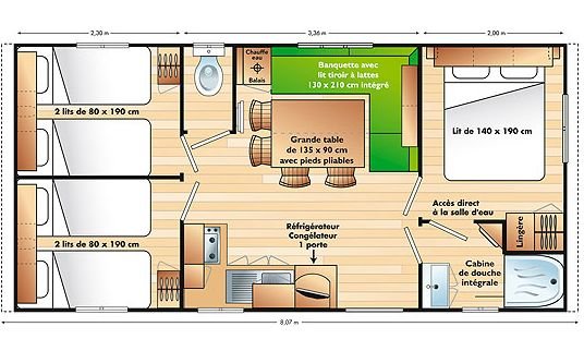 Mobilheim Basic 6 Personen - Mobilheim basic
