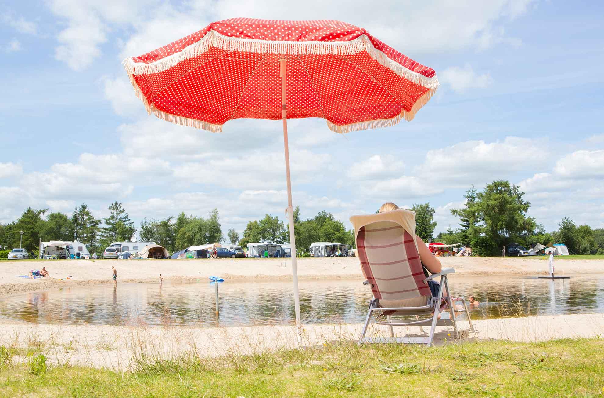 Campingplatz am Wasser bei Het Stoetenslagh - Campingplatz am Wasser