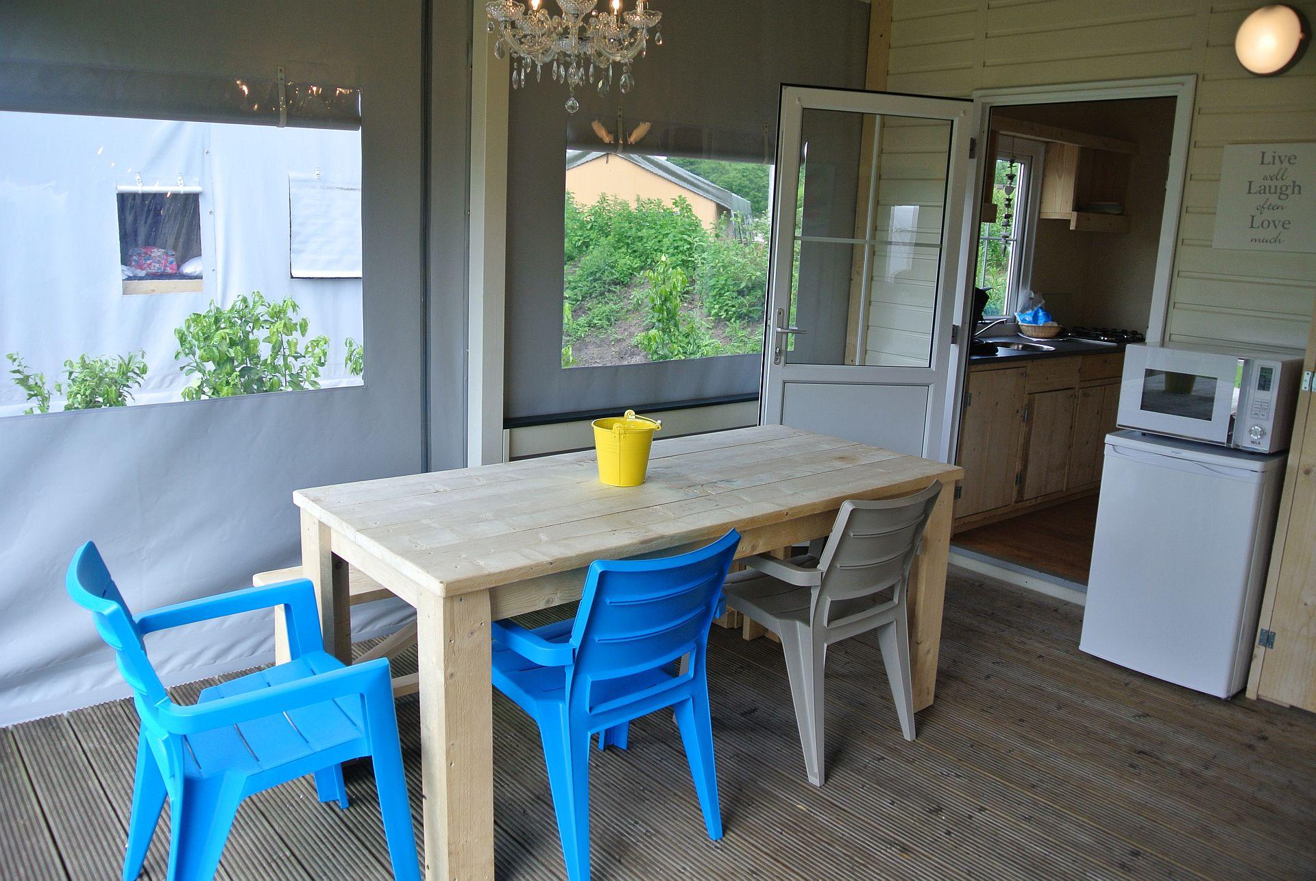 Lodgezelt, eine besondere Unterkunft direkt am Strand! -
