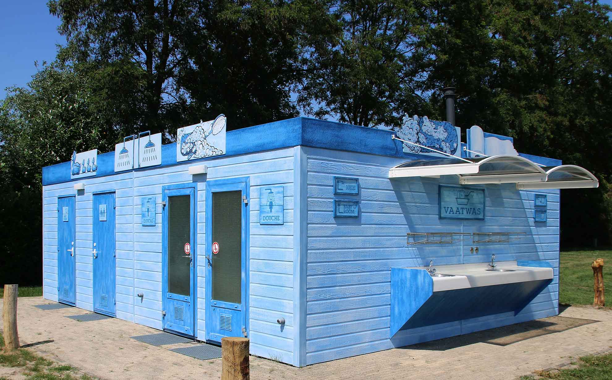 Sanitäranlagen auf dem Campingplatz Het Stoetenslagh - Sanitäranlagen auf dem Campingplatz het Stoetenslagh