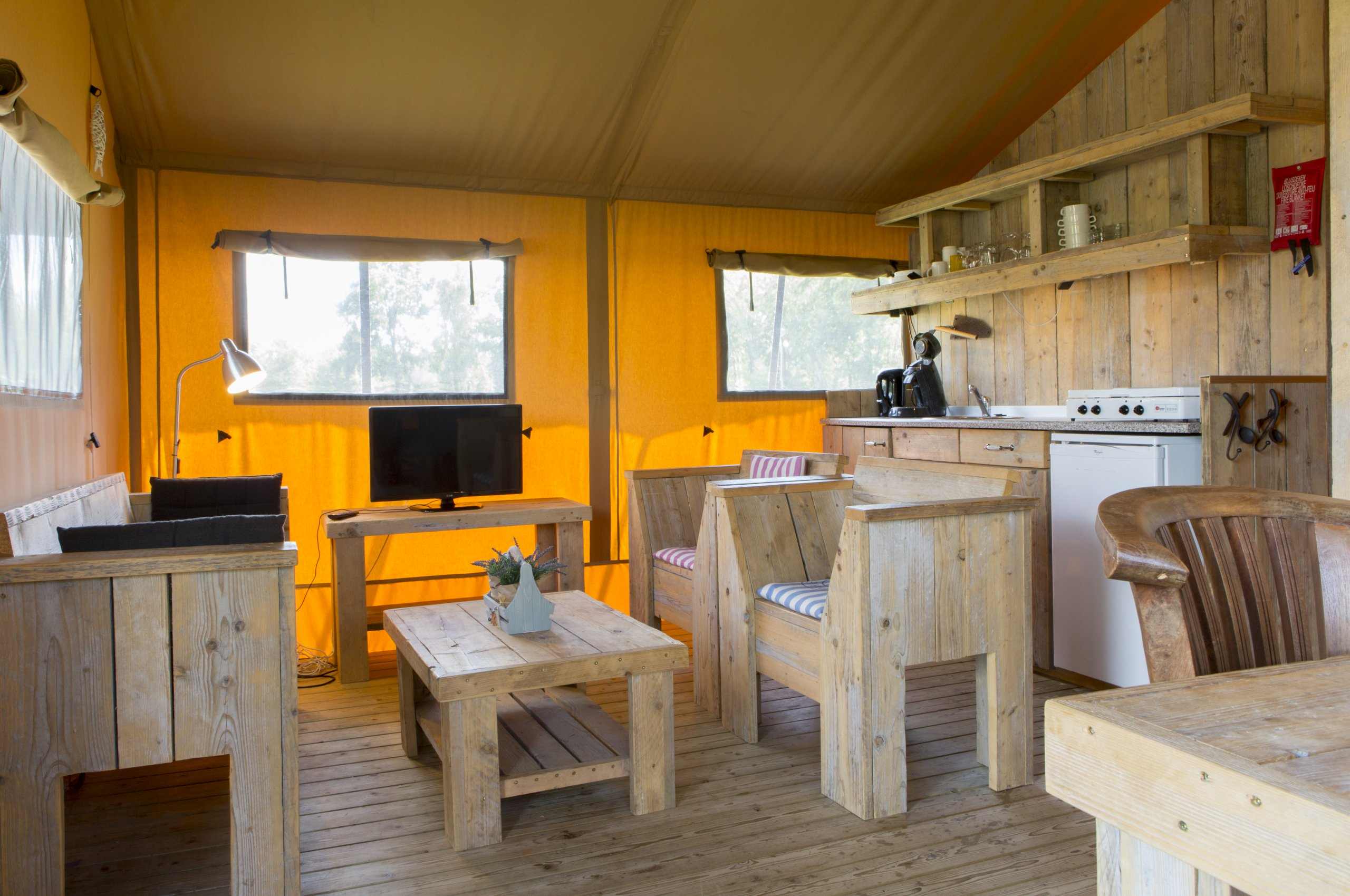 Glamping Lodge top Fernseher 5 pers. -